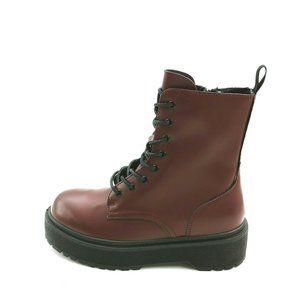 Yoki Kenzo 6 Platform Lace Up Ankle Boot NEW